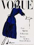 Vogue Cover - April 1947 - Black and Blue-Dagmar-Stretched Canvas