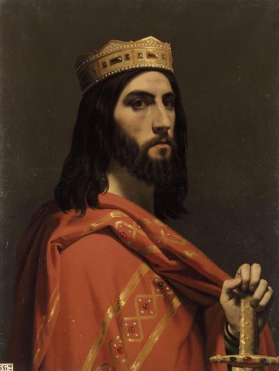 Dagobert Ier, roi d'Austrasie, de Neustrie et de Bourgogne, (mort en 638)-Emile Signol-Giclee Print