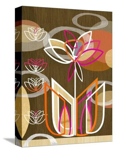 Dahlia Motif-Linda Ketelhut-Stretched Canvas Print