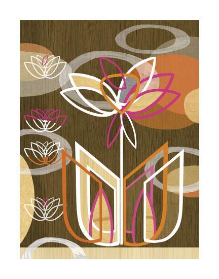 Dahlia Motif-Linda Ketelhut-Art Print