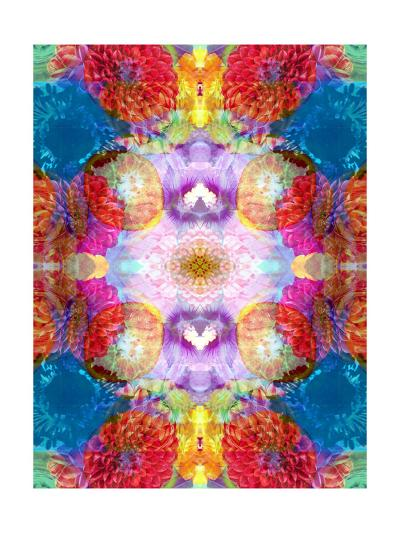 Dahlia Oranment II-Alaya Gadeh-Art Print