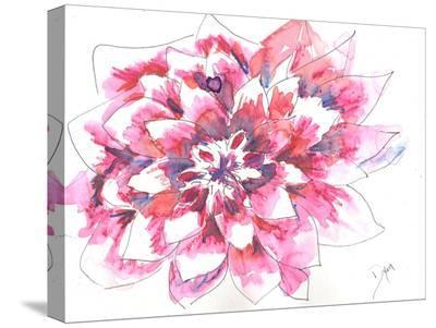 Dahlia-Beverly Dyer-Stretched Canvas Print