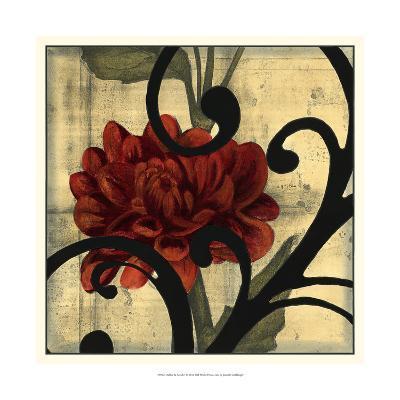 Dahlias and Scrolls I-Jennifer Goldberger-Art Print