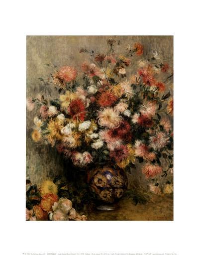 Dahlias-Pierre-Auguste Renoir-Art Print