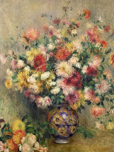 Dahlias-Pierre-Auguste Renoir-Giclee Print