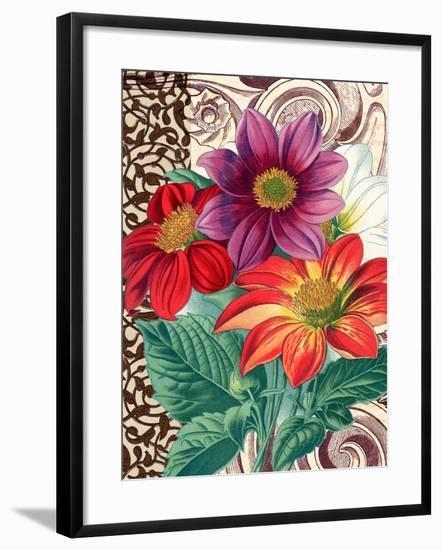 Dahlias-Piddix-Framed Art Print