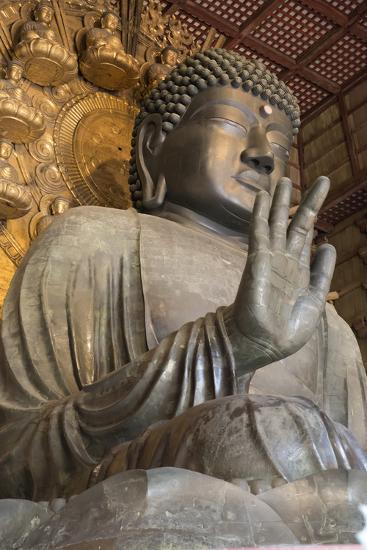 Daibutsu (Great Buddha) (Vairocana) Inside the Daibutsu-Den Hall of the Buddhist Temple of Todai-Ji-Stuart Black-Photographic Print
