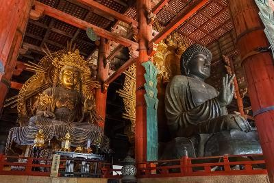 Daibutsu with Kokuzo Bosatsu at Todaiji Temple in Nara-coward_lion-Photographic Print