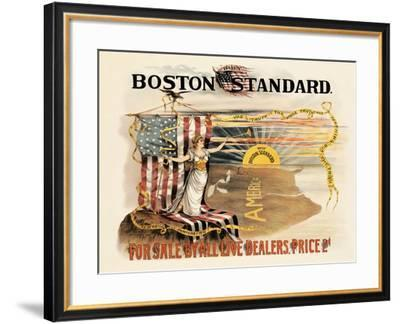 Daily Boston Standard For Sale By All Live Dealers--Framed Art Print