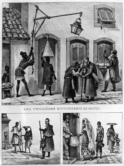 Daily Life in Brazil, from 'Travels in Brazil', Lithographed by Thierry Freres, 1839 (Litho)-Jean Baptiste Debret-Giclee Print