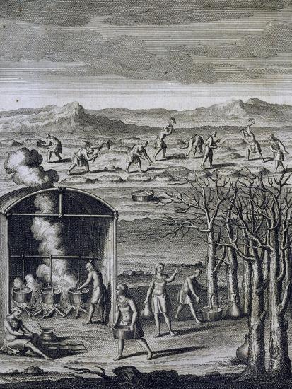 Daily Life in Tribe-Joseph-Francois Lafitau-Giclee Print