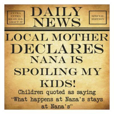 Daily News - Nana-Taylor Greene-Art Print