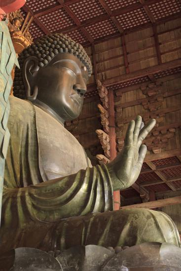 Daimonji Temple in Nara, Japan Is Home to the Giant Buddha Statue Daibutsu-Paul Dymond-Photographic Print