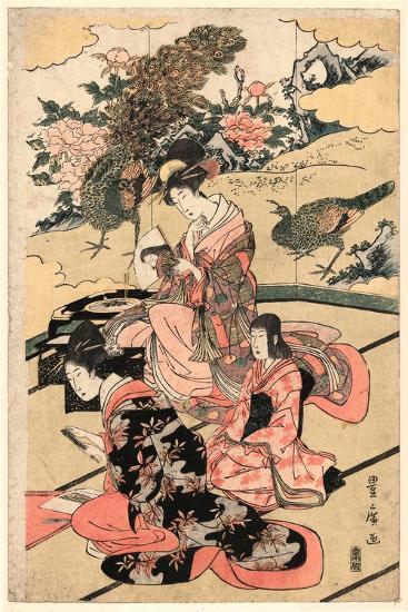 Daimyo No Okuzashiki-Utagawa Toyohiro-Giclee Print