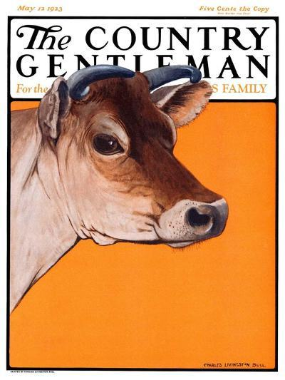 """Dairy Cow,"" Country Gentleman Cover, May 12, 1923-Charles Bull-Giclee Print"