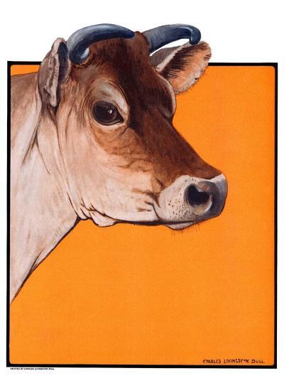 """Dairy Cow,""May 12, 1923-Charles Bull-Giclee Print"