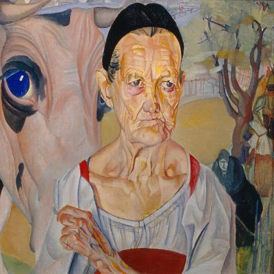 Dairywoman (From the Cycle Les Visages De Russi), 1917-Boris Dmitryevich Grigoriev-Giclee Print