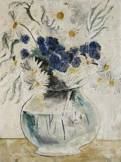 Daisies and Cornflowers in a Glass Bowl-Christopher		 Wood-Giclee Print