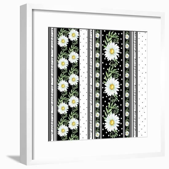 Daisies Pb-Maria Trad-Framed Giclee Print