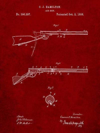 Daisy Air Rifle Patent Art-Cole Borders-Art Print