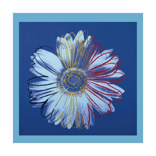 Daisy, c.1982 (Blue on Blue)-Andy Warhol-Giclee Print