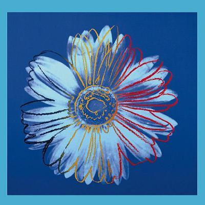 Daisy, c.1982 (Blue on Blue)-Andy Warhol-Art Print