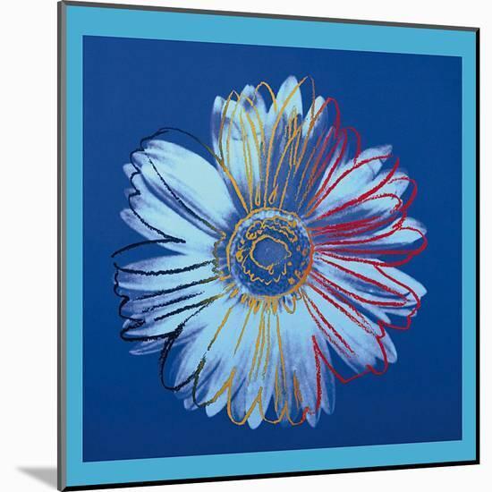Daisy, c.1982 (Blue on Blue)-Andy Warhol-Mounted Art Print