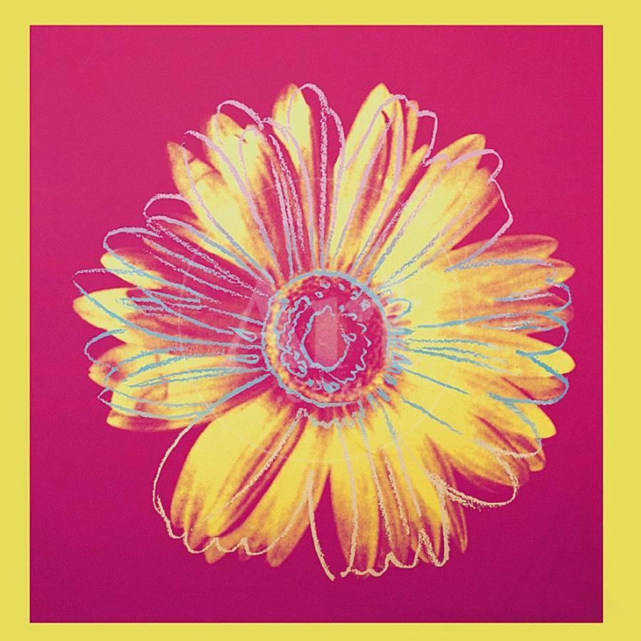 Daisy, c.1982 (Fuschia and Yellow) Art Print by Andy Warhol | the ...