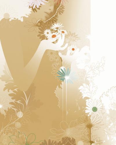 Daisy Lores II-Chellie Caroll-Art Print