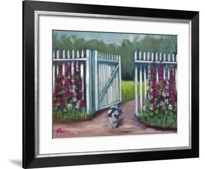 Daisy Smelling Flowers-Marnie Bourque-Framed Giclee Print