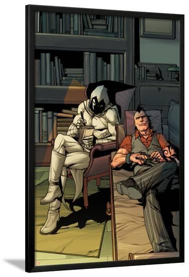 Daken: Dark Wolverine No.13 Cover: Daken and Moon Knight Sitting-Giuseppe Camuncoli-Lamina Framed Poster
