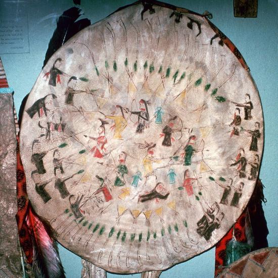 Dakota Native American War Shield-Unknown-Giclee Print