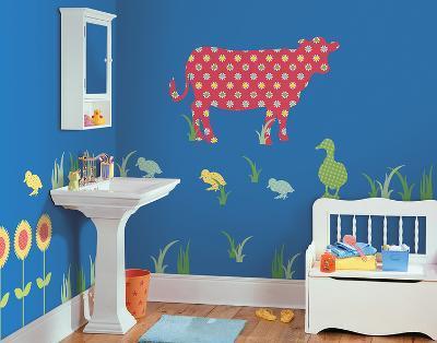 Dakota the Cow ZooWallogy Wall Art Kit--Wall Decal