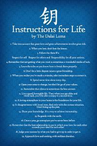 Dalai Lama Instructions For Life