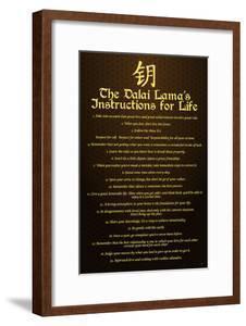 Dalai Lama, Instructions For Life