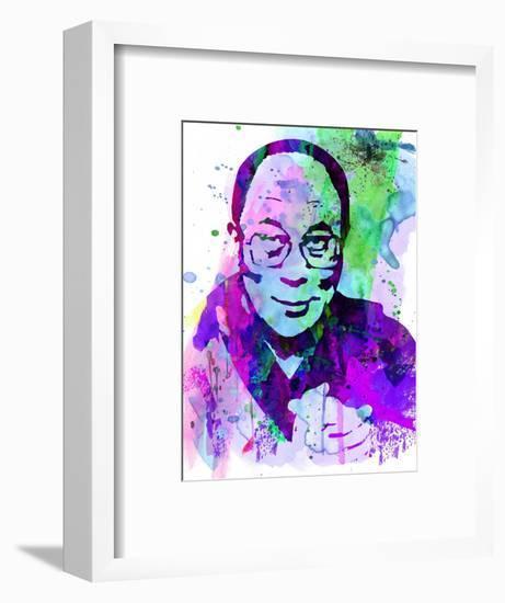 Dalai Lama Watercolor-Anna Malkin-Framed Art Print