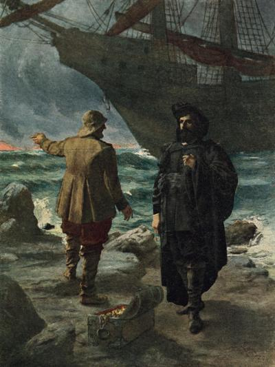 Daland Looked at the Stranger Keenly-Hermann Hendrich-Giclee Print
