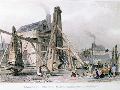 Dalcoath Copper Mine, Camborne, Cornwall, C1830--Giclee Print