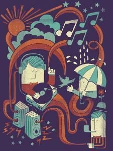 Music in the Rain by Dale Edwin Murray