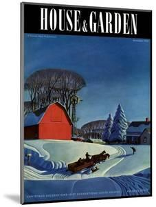 House & Garden Cover - December 1937 by Dale Nichols