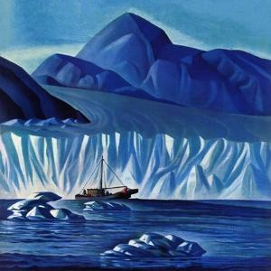 """""""Navigating Through Icebergs,"""" July 19, 1941 by Dale Nichols"""