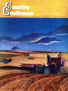 """""""Wheat Harvest,"""" Country Gentleman Cover, June 1, 1942 by Dale Nichols"""