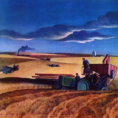 """Wheat Harvest,""June 1, 1942 by Dale Nichols"
