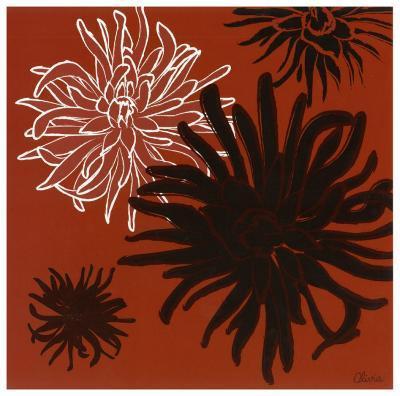 Dalhias II-Olivia-Art Print