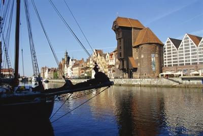Crane Gate, Motlawa Canal, Old Town, Gdansk, Poland