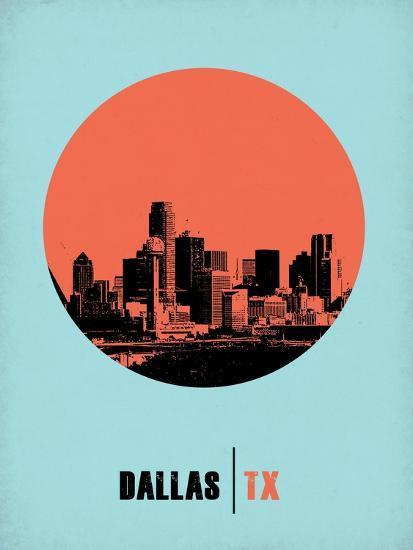 Dallas Circle Poster 1-NaxArt-Art Print