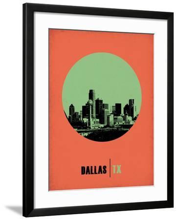 Dallas Circle Poster 2-NaxArt-Framed Art Print