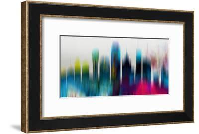 Dallas Downtown Skyline-NaxArt-Framed Art Print