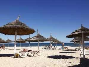 Beach Scene in the Tourist Zone of Sousse, Gulf of Hammamet, Tunisia, North Africa, Africa by Dallas & John Heaton