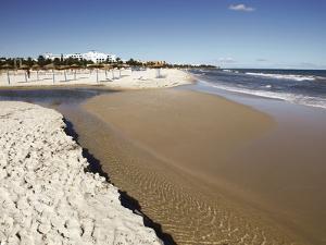 Beach Scene in the Tourist Zone on the Mediterranean Sea, Sousse, Gulf of Hammamet, Tunisia by Dallas & John Heaton